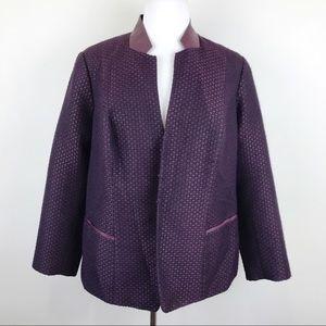 Lafayette 148 Maroon Wool Blazer Office Jacket 20W